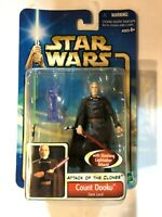 Star Wars Attack of the Clones Count Dooku Figure 27 Hasbro 2002