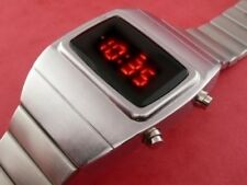 Rare old style modern futuristic 70s seventies space age mens led l.e.d watch 18