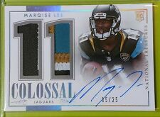 MARQISE LEE 2014 PANINI NATIONAL TREASURES ROOKIE AUTO PATCH #05/25