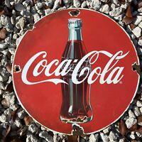 VINTAGE COCA COLA PORCELAIN SIGN USA SODA POP Coke DRINK OIL GAS PUMP PETROLIANA