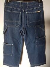 "WOMEN'S JEANS RUSTY CROP PRE-SHRUNK 100% COTTON SIZE 8 LEG 21"" FREE POSTAGE"