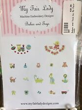 """MY FAIR LADY- MACHINE EMBROIDERY DESIGNS-""""BABES & TOYS""""- LAST ONE"""