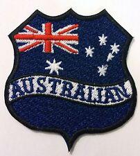 AUSTRALIAN FLAG SHIELD BIKER PATCH