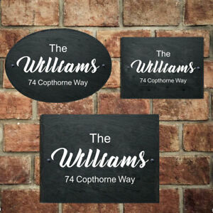 Personalised Door Signs Custom House Sign Plaques Natural Slate For House Home