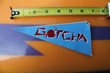 Gotcha 80's Surfboard Clothing Tag Neon Red Blue Neon Og Vintage Surfing Sticker