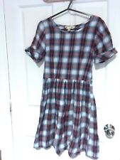 Yumi | Skater dress | Red & blue checked | Size 8