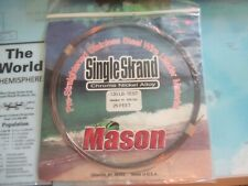 Mason Single Strand 120 Lb 25 Feet Pre-Straightened Stainless Steel Leader New!!