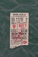 1960 5/7 baseball ticket Kansas City A's v New York Yankees, Moose Skowron 2 RBI