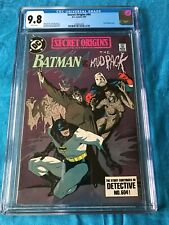 Secret Origins 44 - DC - CGC 9.8 NM/MT - Batman Mudpack story