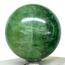 "2.2"" Green Fluorite Sphere Sparkling Natural Translucent Mineral Ball Madagascar"