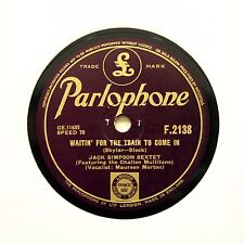 "JACK SIMPSON SEXTET ""Waitin' For The Train To Come In"" (N-) PARLOPHONE [78 RPM]"