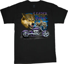Biker Wolf T-shirt Mens Graphic Tees Clothing Apparel Mens Gifts