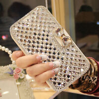 Luxury Bling Crystal Diamond Wallet Flip Case Cover For Samsung S8 S7 Note8 S001