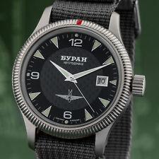 Military BURAN 2824 Automatik Fliegeruhr Herrenuhr Uhr Russland Militäruhr Pilot