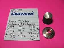Kenwood 2-Piece Split Bass Treble Volume-Balance Knob Kr-100 Stereo Receiver