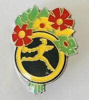 Interflora Flower Bunch Delivery Advertising Pin Badge Rare Vintage (J7)