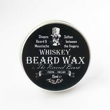 15ml Whiskey scented Moustache Wax by Revered Beard. Premium Beard Styling wax