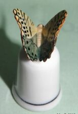 Klima Porcelain Butterfly on Thimble Yellow L687
