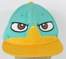Blue Perry the Platypus Face Character Embroidered Baseball Hat Cap Fitted