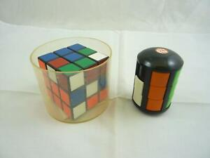 Vintage Rubik's Cube and Puzzle 6 Rotating Slide Puzzle