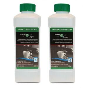 2 x FilterLogic CFL-695M Universal Coffee Machine Liquid/Fluid Descaler- 500ml