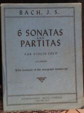 partition, 6 sonates & Partitas pour violon solo, J.S.Bach