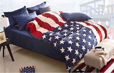 USA Flag Velvet Warm Duvet Quilt Cover Sets Bedding Cover Sets