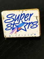 Vintage Collectible Super Stars Nite Club Colorful Metal Pinback Lapel Pin