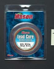 "Mason ""LEAD CORE"" Deep Water Trolling Line 100 Yard Spools 12lb thru 60lb Test"