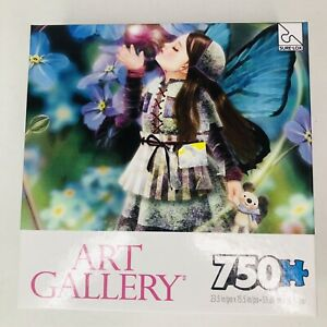 """Art Gallery Forget Me Or Not Fairy 750pc Puzzle TcgToys 2016 New 23.5""""x15.5"""""""