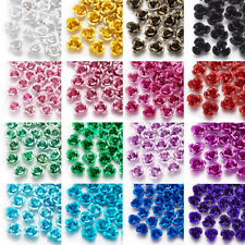 Assorted Joblot 200 Aluminium Metal Tube Beads 4x6 mmMixed-Colour Jewelry Making
