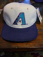 Vintage Arizona Diamondbacks Snapback Hat Cap White and purple