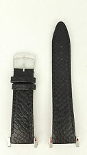 Watch Strap SNDZ99P1 Seiko Black Leather Watch Band 20 mm 4LK4JB 7T92 0HP0