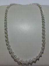 "UNWORN 19"" ""MJI"" ITALY STERLING SILVER WOMENS HELIX CHAIN LINK NECKLACE CLEAN"