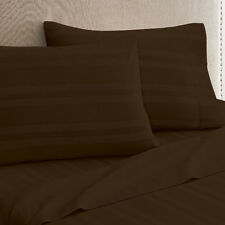 Modern Living Chocolate Arezzo Stripe Sheet Set (Queen)
