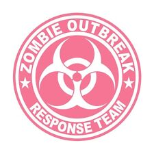 Pink Zombie Outbreak Response Team Hard Hat Decal / Helmet Sticker ZORT