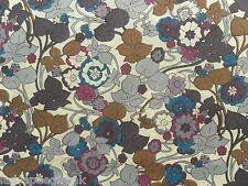 Liberty TANA LAWN tissu de coton boxford (d) 2.15 m violets / Browns ITC