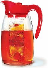 Primula Flavor It Infusion Pitcher Red Beverage Infuser Dispencer 2.9 Qt Pitcher