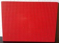 Large Red Base Plate Sheets Base Board 12X9 Building Blocks Legoish 40x30 Dots