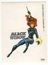 1980 Spanish Marvel Comics Superhero Terrabusi Trade Sticker #255 - Black Widow