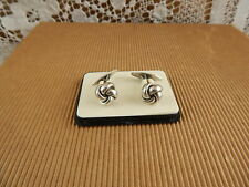 ART DECO ANTICHI GEMELLI ARGENTO 925 STERLING SOLID SILVER DANISH CUFFLINKS