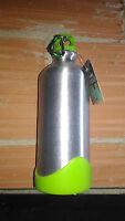 Botella termo aluminio con mosqueton acampada montañismo bicicleta 600 ml