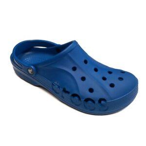 CROCS Baya Lightweight Slip On Clogs Shoes Bright Cobalt Mens Size 12