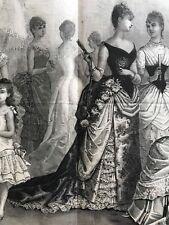 MODE ILLUSTREE SEWING PATTERN Jan 11,1885 - Ball Gowns - Robe en crepe de soie