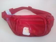 Genuine Roma Leather Red Belt Bag Fannie Pack Holder Organizer 3078