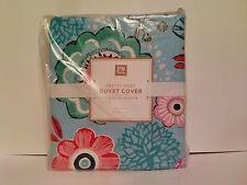 Pottery Barn Teen Pretty Posy Full / Queen Duvet Blue Floral No Sham Multi color