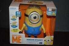 New Despicable Me Minion Stuart Laughing Action Figure Talking Doll Interactive