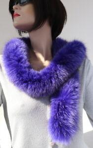Écharpe fourrure tibetlamm Boa Col Biggi PEAU LAINEE mode manteau violet violet lilas