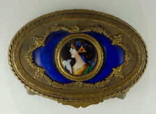 Antique French Limoges Enameled Jewelry Box