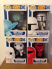 "Funko POP! Star Wars Walgreens Exclusives - Error ""Wallgreens"" Set of 4"